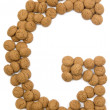 Ginger Nut Alphabet G — Foto Stock