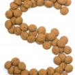 Ginger Nut Alphabet S — Stock Photo