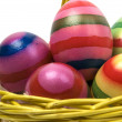 Easter Eggs In A Basket -2 — Stock Photo