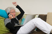 Senior Woman On A Laptop - 7 — Stock Photo