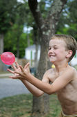 Catching The Balloon — Stock Photo
