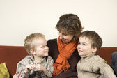 Mother And Two Sons 2 — Stock Photo