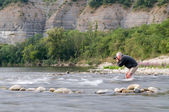 Photographer in Ardeche — Stock Photo