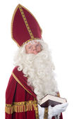 Sinterklaas and his book — Stock Photo