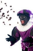 Zwarte piet kasta ingefära nötter — Stockfoto