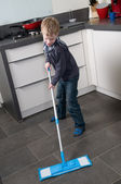 Cleaning the floor — Stock Photo
