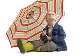 глядя на дождь — Стоковое фото