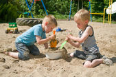 Play in the sandbox — Stock Photo