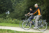 Biking Seniors — Stock Photo