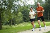Running Seniors — Stock Photo