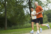 Running Seniors — Stock Photo