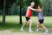 Running exercises - 2 — Stock Photo