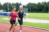 Running Pensioners — Stock Photo