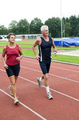 Running Pensioners — Stock Photo