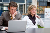 Curious Businesswoman Looking At Her Colleague — Stock Photo