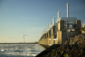 Storm surge barrier in Zeeland, Holland. — Stock Photo
