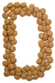 Ginger Nut Alphabet D — Stock Photo
