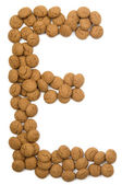 Ginger Nut Alphabet E — Stock Photo