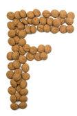 Ginger Nut Alphabet F — Stock Photo