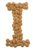 Ginger Nut Alphabet I — Stock Photo
