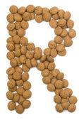 Ginger Nut Alphabet R — Stock Photo
