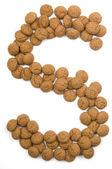 Zencefil somun alfabe s — Stok fotoğraf