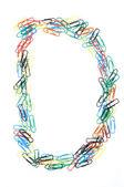 Paperclip Alphabet Letter D — Stock Photo