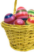 Easter Eggs In A Basket -3 — Stock Photo