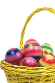 Easter Eggs In A Basket -6 — Stock Photo
