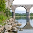 Bridge over the Ardeche - Stock Photo