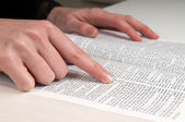 Studying The Bible — Stock Photo