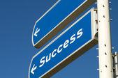 éxito roadsign — Foto de Stock