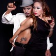 Gangster Style Portrait of Asian Couple — Stock Photo #5911054