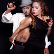 Stock Photo: Gangster Style Portrait of Asian Couple