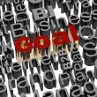 Business words related with highlighted word Goal in red — Stock Photo