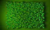 Geometrische blok achtergrond in het groen — Stockfoto