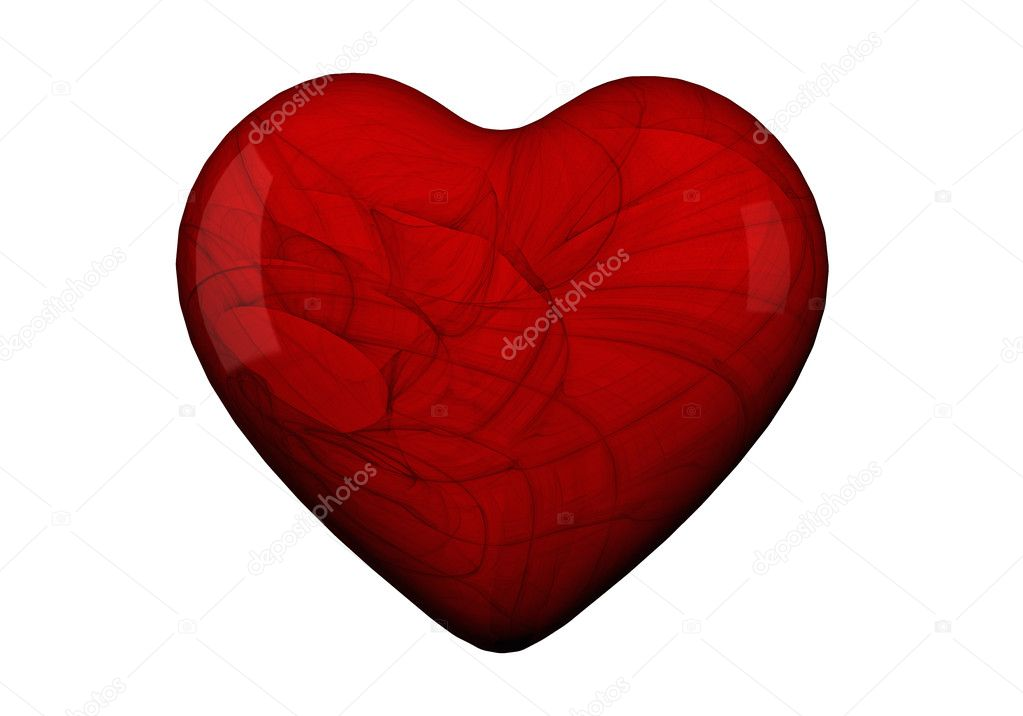Heart shape in red and pink with textures — Stock Photo #5928659