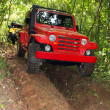 Offroad red car — Stock Photo