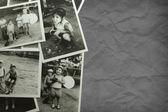 Viejas fotos en blanco y negro — Foto de Stock