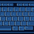 Computer keyboard in black and blue — Stock Photo #6056978