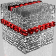 Stockfoto: Business words related in cube format with highlighted word Success in red