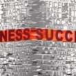 Business words related with words Business and Success - Stock Photo