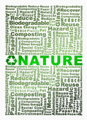 Cube with Recycle words related and Nature word highlight — Stock Photo