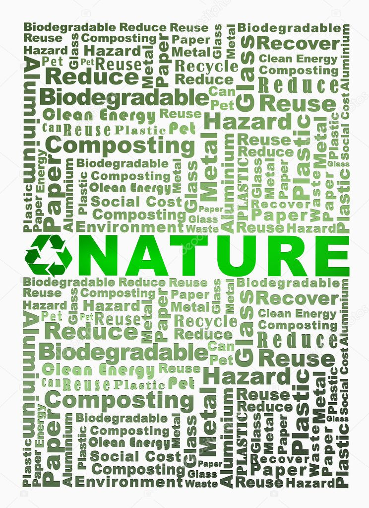 Recycle words related including paper, glass, metal, reuse, reduce and others. — Stock Photo #6289163
