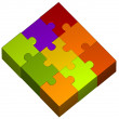 Illustration of color puzzle pieces — Stock Photo #6395137