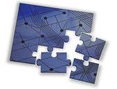 Color puzzle rendered — Zdjęcie stockowe
