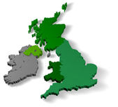 Illustration of united kingdom of great britain — Stock Photo