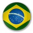 Badge with flag of brazil — Stock Photo #6473967
