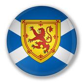 Badge with flag of scotland — Stock Photo