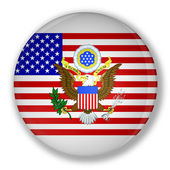 Badge with flag of United States — Stock Photo